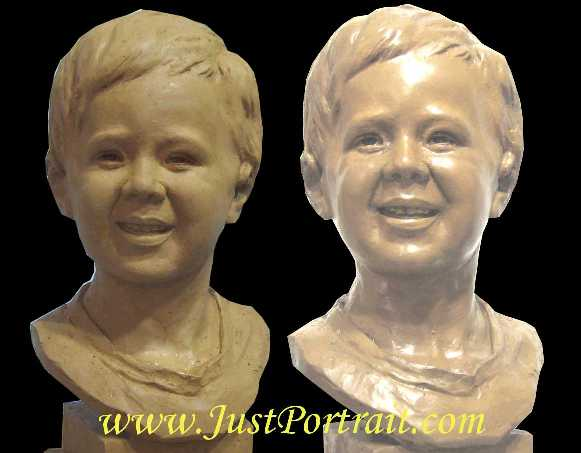 High quality molding resulting is almost exact duplicate of resin or bronze busts from original clay portraits
