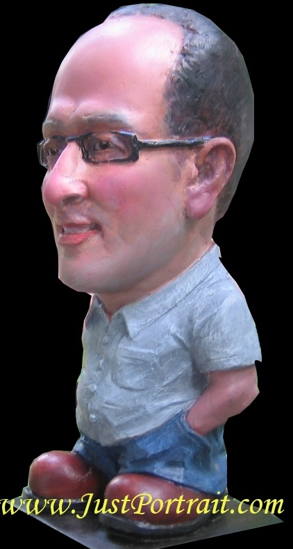 Custom Caricature Bust, Personalized Cartoon Faces from photos