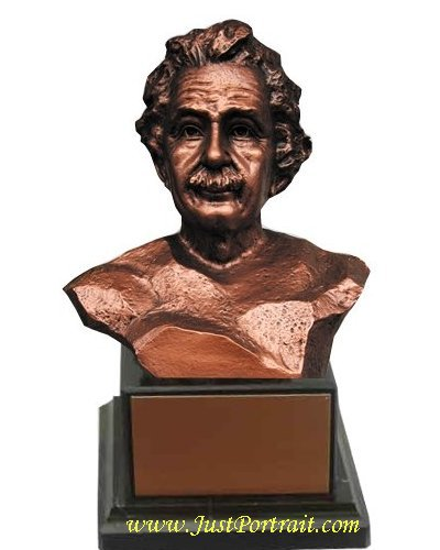 Custom sculpture urn, portrait with cavity base