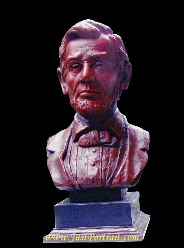 Bronze bust of famous people such Lincoln for sale (Custom portrait sculpture commissions)
