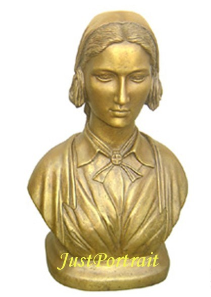 Bronze bust of Florence Nightingale for sale
