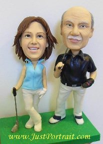 Custom caketop figurines, commission look-alike figurines, polymer clay