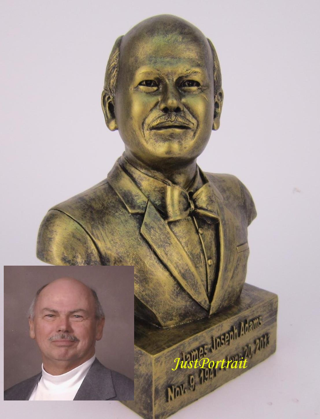 Custom Bronze Bust, Custom Bust Sculpture, Portrait Sculpture Commissions, in resin and marble, bronze finish