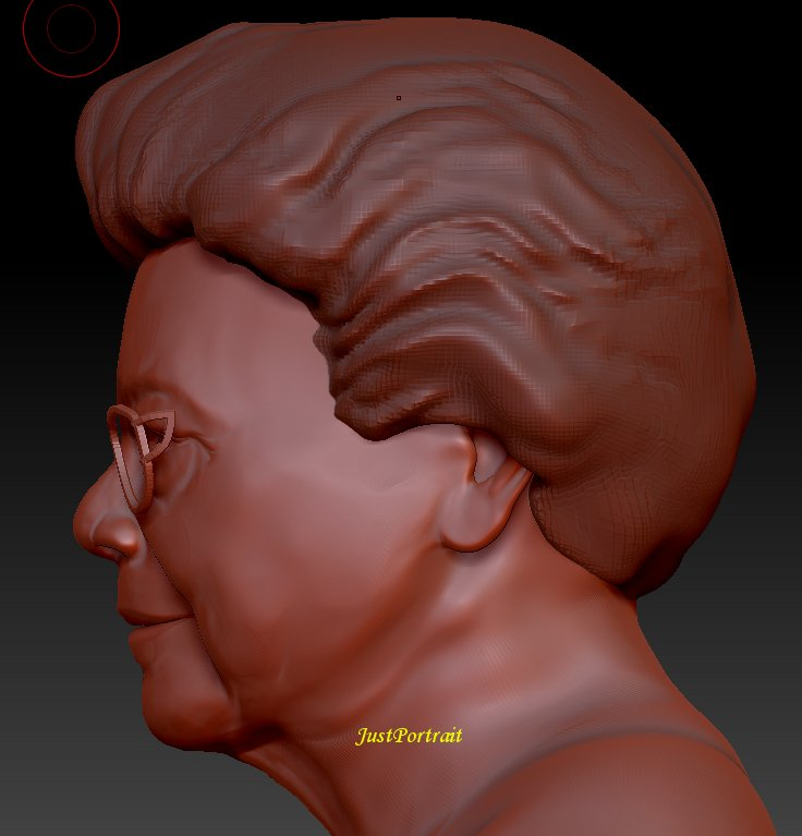 Custom Digital Sculpture, 3D digital busts for 3D printing or conversion to bronze