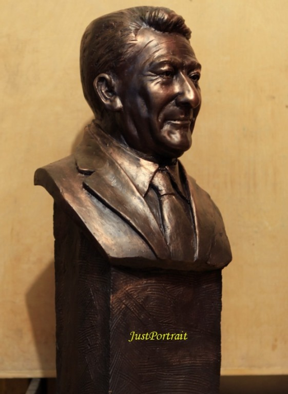 Commission a Bronze Custom Portrait Sculpture Bust (or custom bronze portrait commissions) Boy and Girl, famous people
