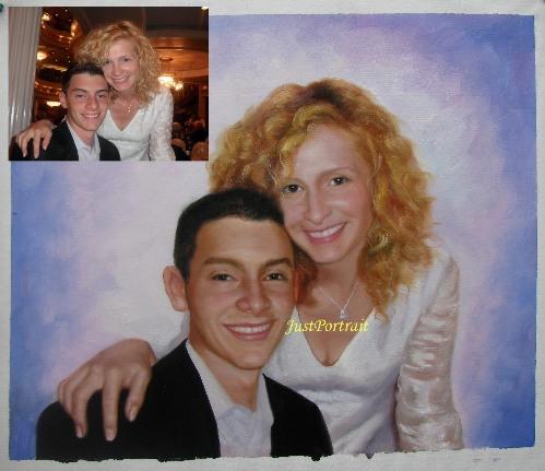 Custom Oil Portraits From Photos Family